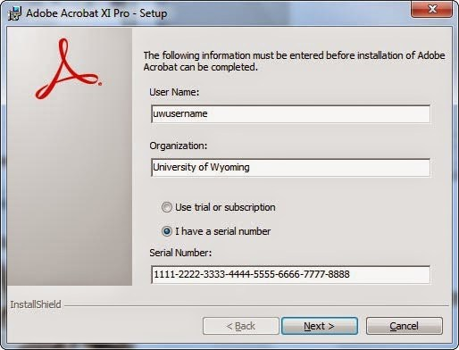 adobe acrobat serial number